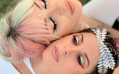 Lentejuelas como eyeliner